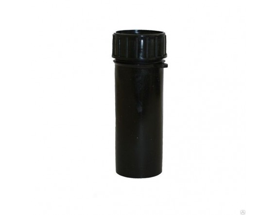 Тубус для ключей пластиковый (140 х 60 мм) черный