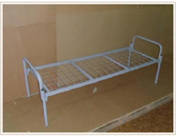 Кровать мет. односпальная двойное усиление